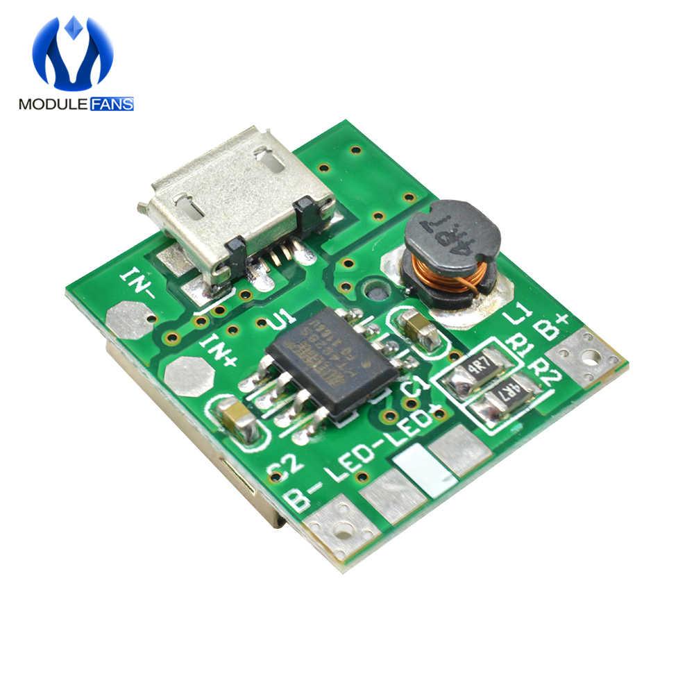 2 adet 5V Step Up güç kaynağı modülü lityum pil şarj koruma levhası Boost dönüştürücü LED ekran USB DIY için şarj cihazı