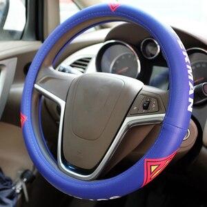 Image 4 - Cool Cartoon Car Steering Wheel Covers Case Comfortable Anti Slip Auto Steering Wheel Cover Car Accessories
