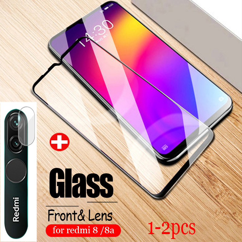 1 2PCS protective glass for redmi 8 8a camera lens screen protector on redmi8 mi8 front tempered glass for xiaomi redmi 8 glass Phone Screen Protectors    - AliExpress