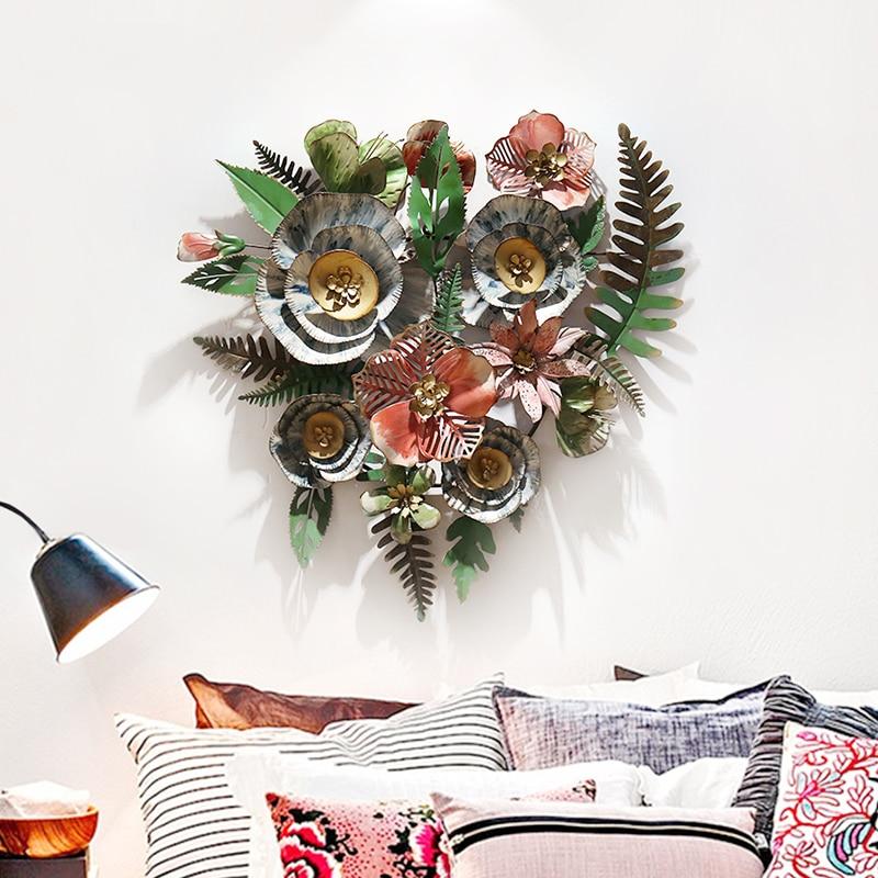 Гостиная Цветочные настенные наклейки украшения творческий дом кованого железа Висячие - 6