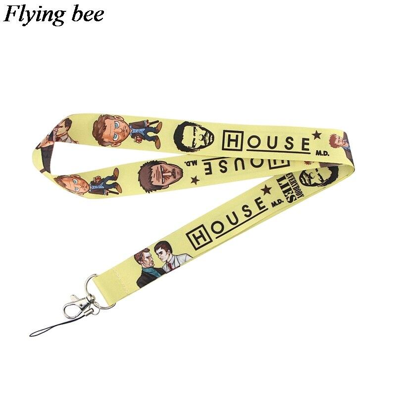 Flyingbee Doctor Keychain Cartoon Cool Phone Lanyard Women Fashion Strap Neck Lanyards For ID Card Phone Keys X0716