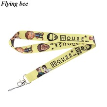 Flyingbee Doctor Keychain Cartoon Cool Phone Lanyard Women Fashion Strap Neck Lanyards for ID Card Phone Keys X0716(China)