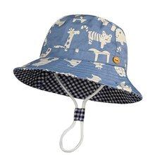 Chapéu infantil de desenho animado, chapéu estampado para meninos e meninas de 6 meses a 8 anos