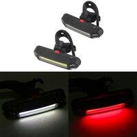 Fanale posteriore per bicicletta anteriore per bicicletta torcia a LED impermeabile lampada di coda ciclismo ricarica USB spia di sicurezza accessori bici