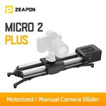 Zeapon بمحركات مايكرو 2 زائد حامل كاميرا متحرك المحمولة السفر المسافة 54 سنتيمتر/21.2in 4.5 كجم كل اتجاه قدرة 39 ديسيبل موتور