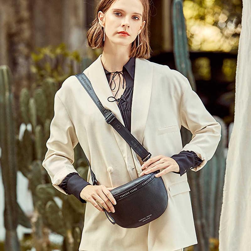 Echtes Leder Umhängetaschen Frauen Berühmte Marke Weibliche Schulter Tasche Mode Breiten Schulter Riemen Soft Kleine Frauen Tasche Bolsa sac