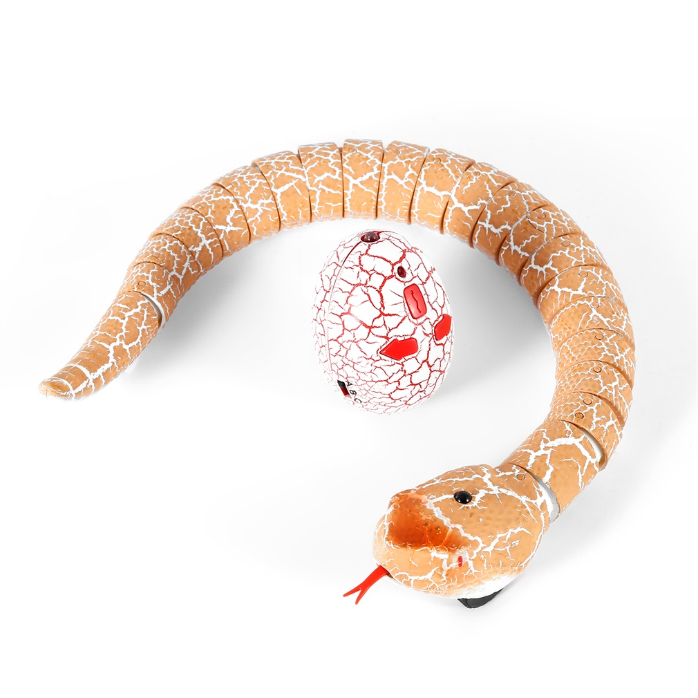 OCDAY RC Remote Control Snake Christmas Plastic Egg Rattlesnake Animal Trick Terrifying Mischief Toys for Kid Funny Novelty Gift(China)