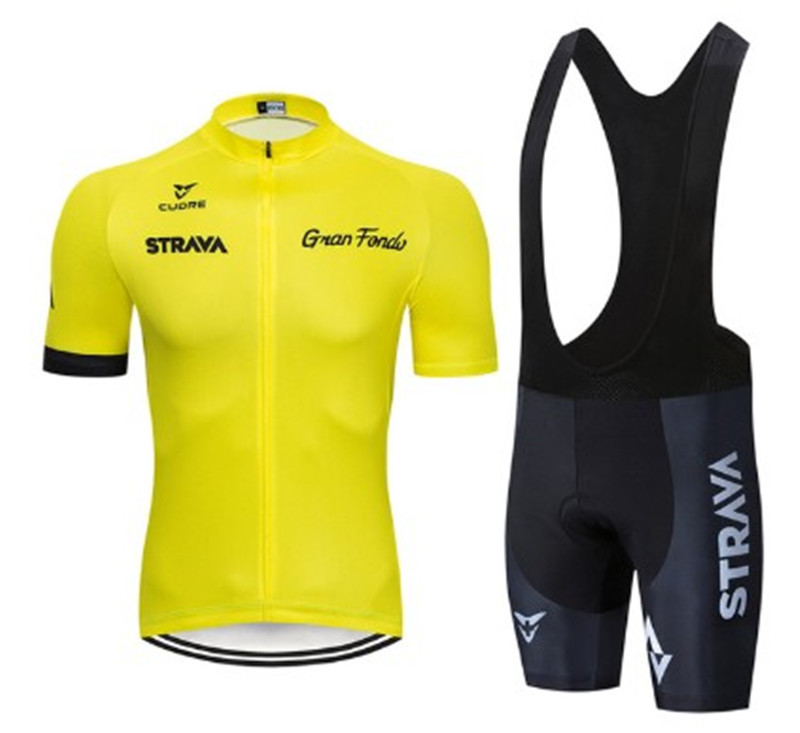 2020 Pro Team <font><b>STRAVA</b></font> summer cycling Jersey set Bicycle Clothing Breathable Men Short Sleeve <font><b>shirt</b></font> <font><b>Bike</b></font> bib shorts 20D Gel pad image