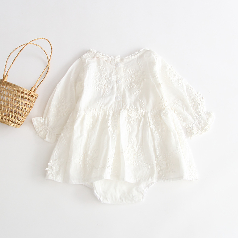 MILANCEL Baby Bodysuits Pure White Baby Girls Clothing Anniversary Toddler Boys Outfit