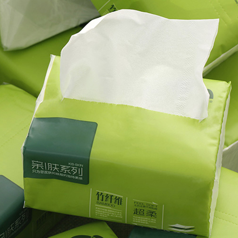 2 Packs Strong Soft 4-Ply Toilet Paper Bath Tissue Bamboo Skin-friendly Paper Towel For Home New MH88