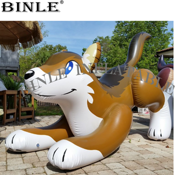 цена на Custom cute giant inflatable wolf model air sealed pvc cartoon toy for outdoor advertising