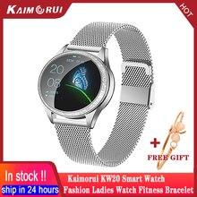 KW20 Smart Uhr Frauen Wasserdichte Herz Rate Schrittzähler Blutdruck Smart Armband Smartwatch Für IOS Xiaomi Huawei Android TELEFON