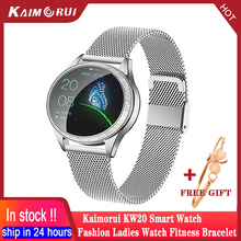KW20 ساعة ذكية للنساء مقاوم للماء معدل ضربات القلب عداد الخطى ضغط الدم الذكية سوار Smartwatch ل IOS شاومي هواوي أندرويد