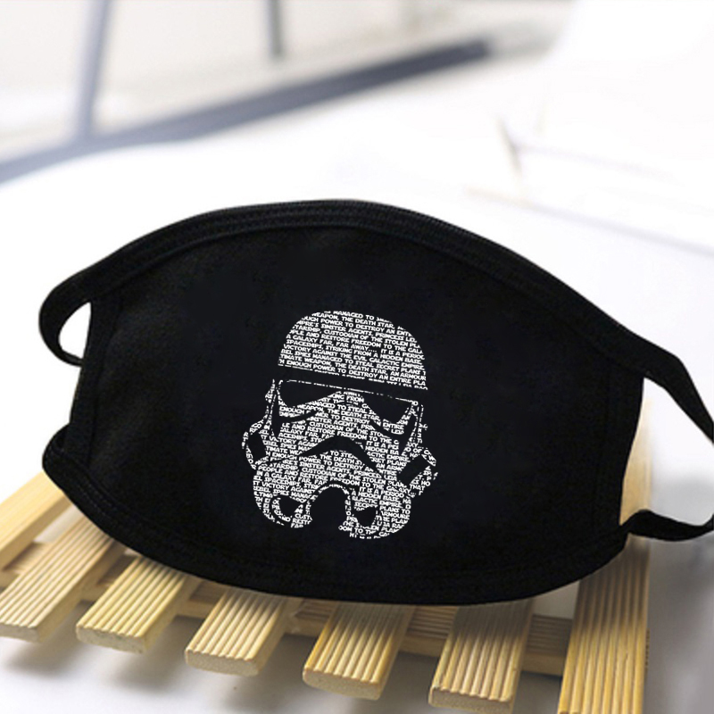 Star Wars Printing Masks High Quality Anti Dust Washable Breathable Mouth Muffles Black Warm Winter Autumn Dustproof Masks