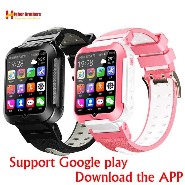 สมาร์ท 4G กล้อง GPS WI FI เด็กนักเรียนเด็กนักเรียนนาฬิกาข้อมือวิดีโอ SOS Call WhatsApp Monitor Tracker Location โทรศัพท์นาฬิกา