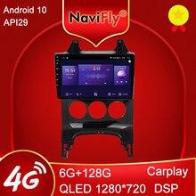 Mekede 6gb + 128gb 8 núcleo carplay qled 1280*720 android 10.0 rádio gps carro muletimedia player para peugeot 3008 1 2009 - 2016