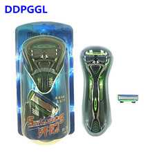 TFLYSHAVE 1 Holder 2pcs Blades Men Shaver Razor Blade for Men 6 Layer Replaceable Blade Mingshi High Quality blade