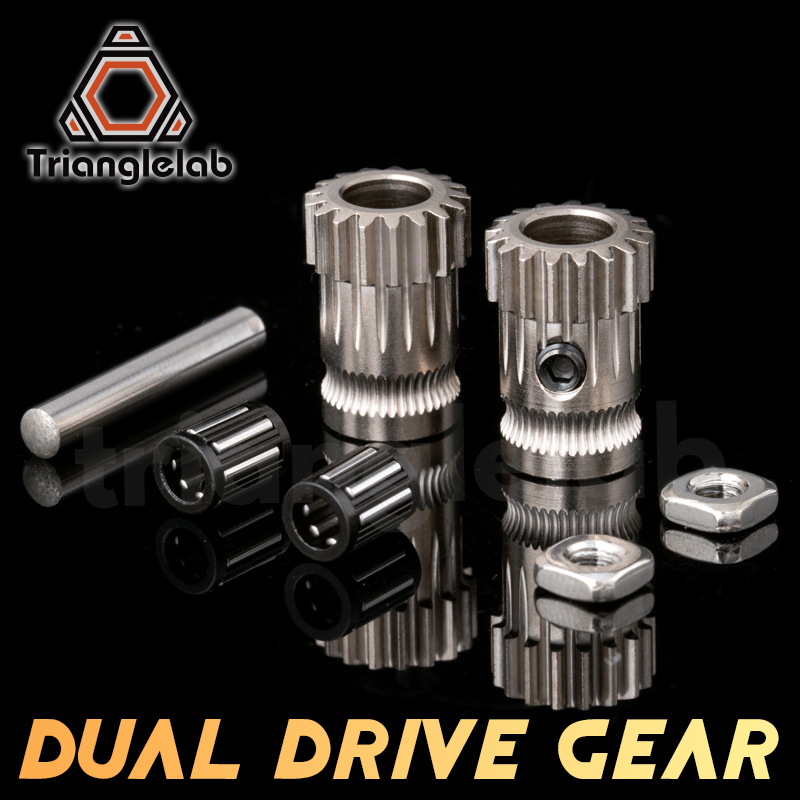 Drivegear kit dual drive gear extruder kit Cloned Btech upgrade for extruder for Prusa i3 3d printer