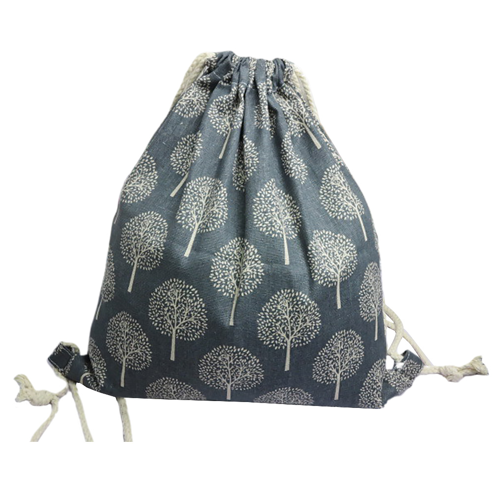 4pcs Travel Drawstring Tree Printed Shopping Home Large Capacity Foldable Wear Resistant Practical Portable Storage Bag Fashion