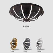 2020 new bedroom ceiling fan lamp with dimming remote contro Nordic ceiling fans with lights modern minimalist line ceiling fan cheap mannoroth None Remote Control LH072 Aluminum Wedge