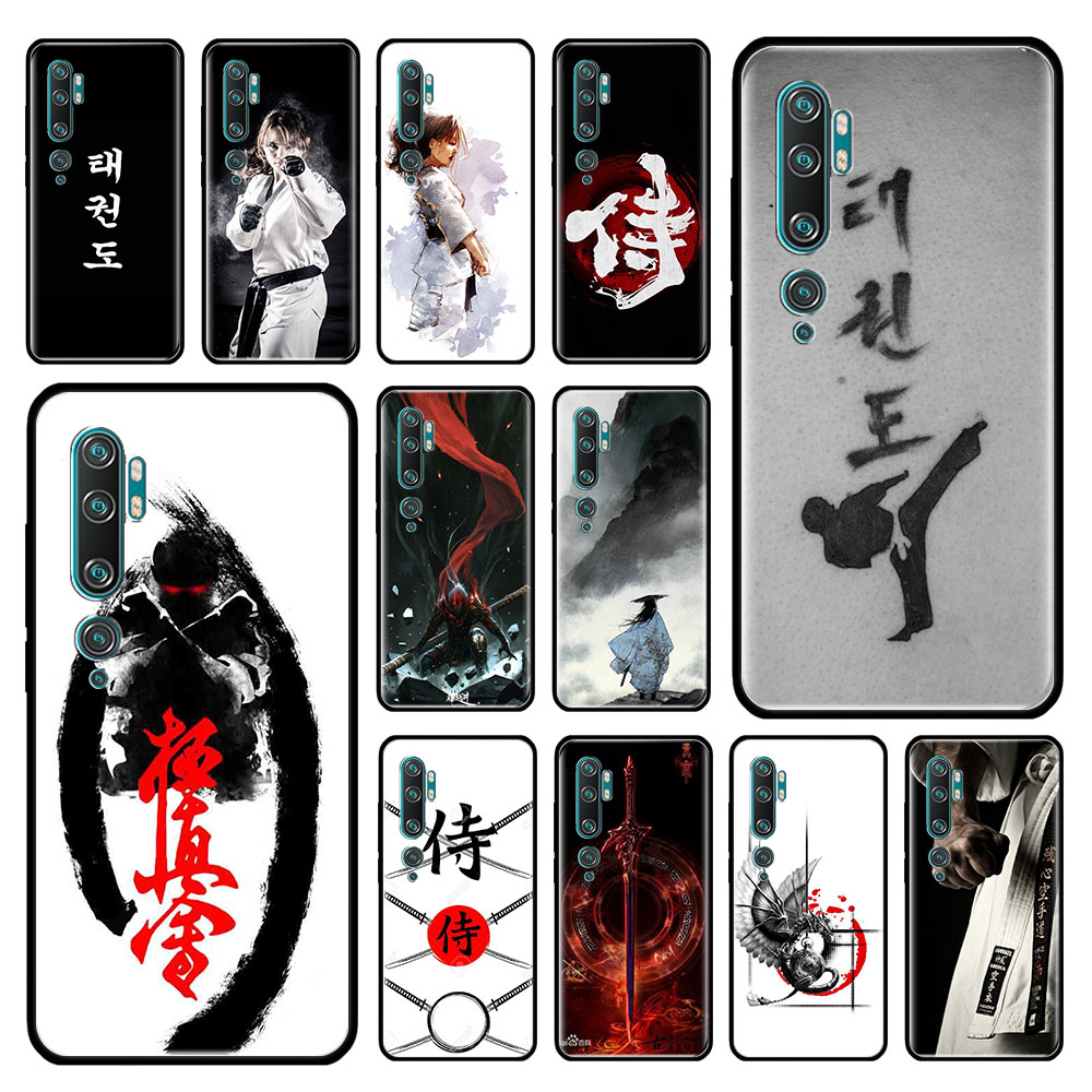 Oyama Kyokushin Karate Case For Xiaomi Mi Note 10 9 CC9 9T Pro 5G CC9E 8 A3 A2 Lite X2 F1 Black Soft Bags Phone Cover
