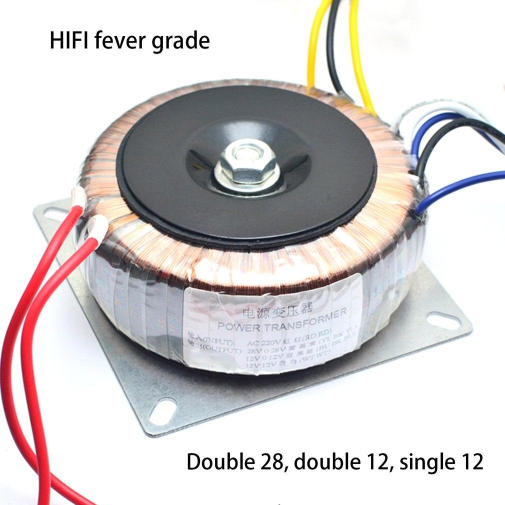 محول تيار متردد مزدوج 28 فولت مفرد 12 فولت 200 وات للوحة ألوان تضخيم الصوت المسبق لوحة تستخدم 220 فولت حلقة صوت البقر الفاخر مع النحاس