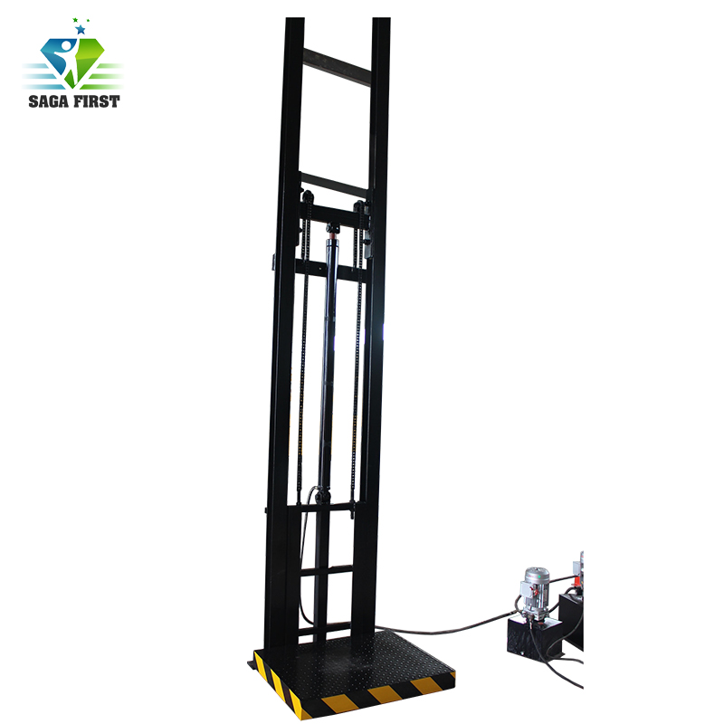 500kg Hydraulic Vertical Guide Rail Cargo Lift 1ton 6m Electric Vertical Material Lift Platform