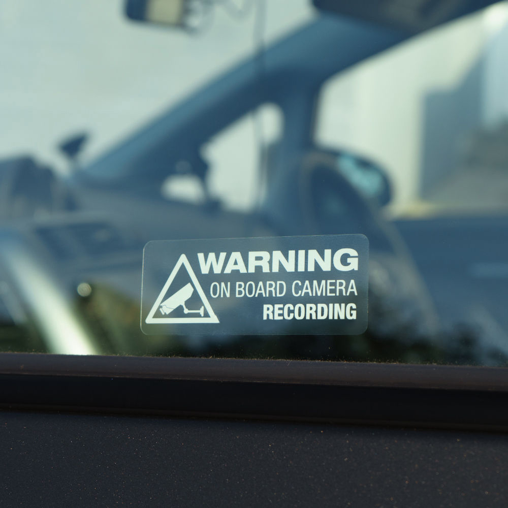 Dash Cam on Board Bumper Baby Waterproof Decal In Car Camera Recording Sticker