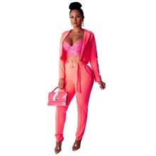 Neon Blazer Set Women Suits Office Sets