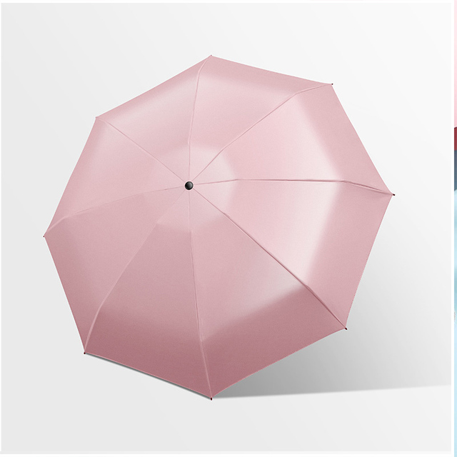 Five-holding sun umbrella sun protection UV folding umbrella female sunshade rain dual-use capsule compact portable pocket 2