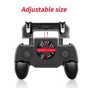 Image 3 - Controlador gamepad joystick r1 l1 shooter joypad jogo almofada refrigerador ventilador com 2000/4000mah power bank l1r1 para telefone android iphone
