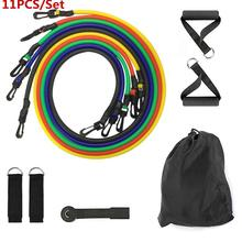 цена 11Pcs Resistance Bands Set Expander Yoga Exercise Fitness Rubber Tubes Band Stretch Training Home Gyms Workout Elastic Pull Rope онлайн в 2017 году