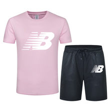 New Men's Tracksuit Summer Clothes Sportswear Two Piece Set T Shirt Shorts Brand Track Clothing Male Sweatsuit Sports Suits Husb