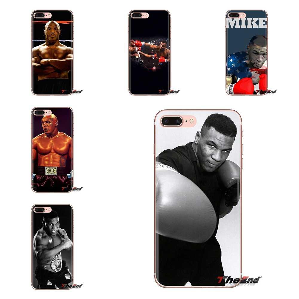 Para Samsung Galaxy A3 A5 A7 A9 A8 estrella A6 Plus 2018, 2015, 2016, 2017, Mike Tyson Pro boxeo estrella patrón TPU cubierta de piel transparente