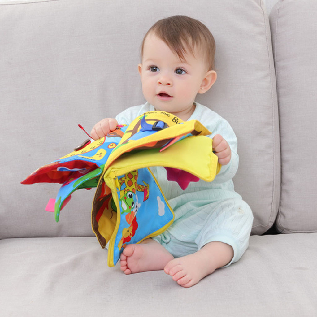 New Kids Animals Soft Cloth Book Early Learn Education Baby Development Toy US