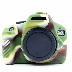 Image 2 - Silicone Armor Skin Case Body Cover Protector for Canon EOS 4000D 3000D Rebel T100 DSLR Camera ONLY