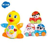 HOLA 808 & 3129 danse canard et 1PC bébé jouets jouets drôles bébé coloré dessin animé Mini tirer voiture