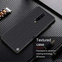 For OnePlus 8 Case NILLKIN-funda de fibra de nailon texturizada para OnePlus 8, carcasa trasera fina y ligera