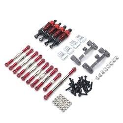 Для WPL C14 C24 C24-1 1/16 RC автомобиль рулевая Соединительная тяга выдвижной ручкой для покупок крепление амортизатор седла комплект обновленные а...