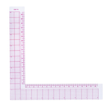 L Square Shape 90 Degree Angle Ruler Plastic Drawing Sewing Measure Professional Tailor Craft Tool Hot Leather Bag