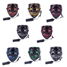 Halloween LED Mask Light Up Party Masks The Purge Election Year Great Funny Festival Cosplay Glow In Dark cheap YH