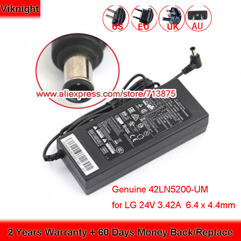 Genuine 42LN5200-UM 75W Charger 24V 3.42A Ac Adapter for LG LCD MONITOR LCAP37 2013 42LN5200-UM Power Supply
