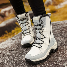 Women Boots 2019 Fashion High Quality Mid-Calf Winter Snow Boots Women Lace-up Comfortable Outdoor Non-slip Martin boots z282 mljuese 2019 women mid calf boots kid suede gray color high heels letter autumn spring women martin boots casual boots size 40