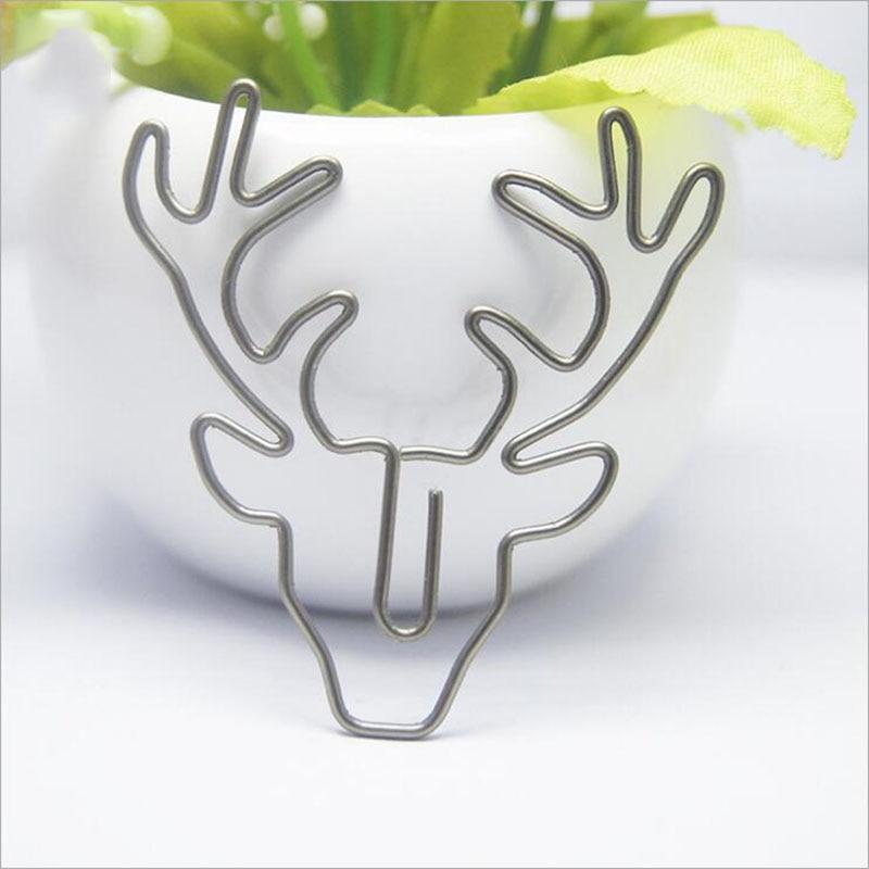 Retro Bronze Deer Head Paper Clip (Without Box) 2