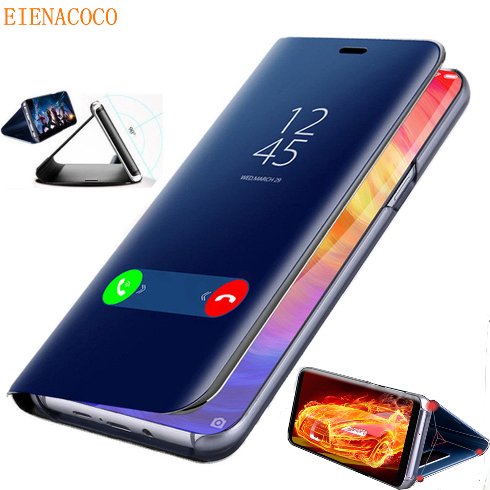 Mirror Smart <font><b>Case</b></font> For <font><b>Samsung</b></font> <font><b>Galaxy</b></font> A50 S8 S9 S10 Note 10 9 8 Plus <font><b>Flip</b></font> Stand Cover For A10 A20E A40 A70 S7 Edge <font><b>A7</b></font> <font><b>2018</b></font> <font><b>Case</b></font> image