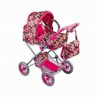 Doll Stroller W.Carry Bag Shoulder bag and Adjust Handle Simulation Toy Baby Stroller Pretend Play Toy Walker Brinquedos Gifts