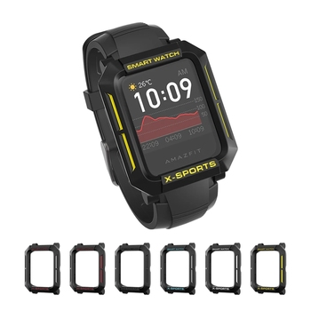 SIKAI Case For Amazfit Bip S Bip U Smart Watch PC TPU Shell Multicolor Protector Cover  for Xiaomi Huami Bip Lite Bip Bumper bapick full cover soft tpu bumper for xiaomi amazfit bip case smart watch screen protector for amazfit bip s case accessories