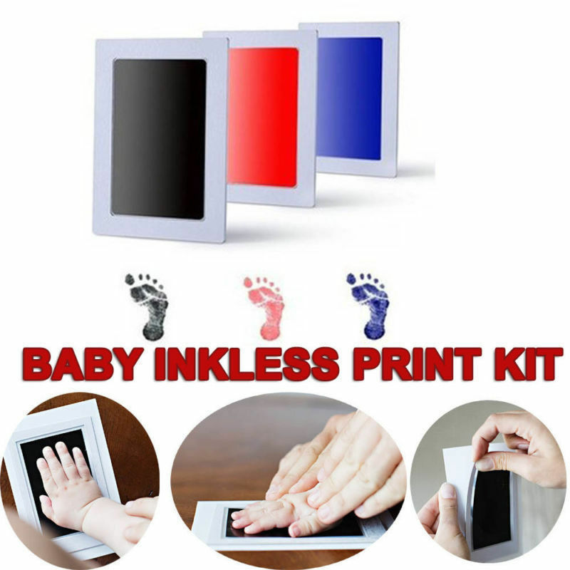 Baby Footprints Handprint Ink Pads Safe Non-toxic Ink Pad Kit for Baby Shower Paw and Foot Print Pad Inkless Baby Accessories