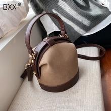 [BXX] Retro Scrub PU Leather Crossbody Bags For Women 2020 B
