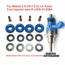 4 комплекта/16 шт., ремонтные наборы деталей топливной форсунки GDI для Mazda 3, 6, 2, 3 л, L4, турбо-CX-7 E7T20171 (2007-2012), для Mazda 3, 6, 6, 2, 3, 3, 3, 3, 8, 7, 7, 7, 7, 7, 7, 7, 7, 7, 7,...